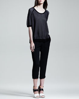 Rag & Bone Diem Oversized Pullover & Cropped Beach Pants