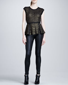 Rachel Zoe Jennifer Lace Blouse & Maxine Skinny Leather Pants