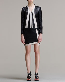 Helmut Lang Evolution Leather Jacket and Evolution Leather Skirt