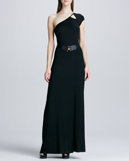 Rachel Pally Emmanuella One-Shoulder Maxi Dress & Elastic Golden-Hook Belt, Women's