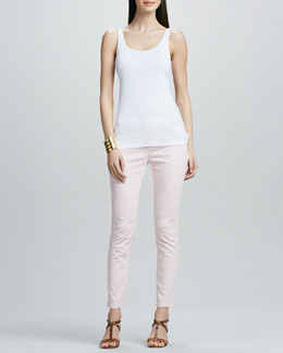 Eileen Fisher Organic Cotton Slim Tank & Skinny Ankle Jeans