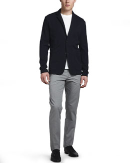 Theory Zarek Knit Blazer & Marlo Cotton-Blend Slim Pants