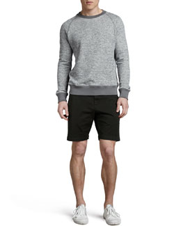 Theory Veton Heather-Knit Sweatshirt & Perth Cotton Shorts