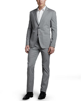 Theory Kris Cotton-Blend Blazer, Zack Sport Shirt & Marlo Cotton-Blend Slim Pants