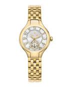 Mini Gold Watch Head & 5-Link Bracelet