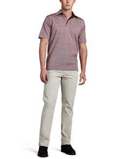 Ermenegildo Zegna Birdseye Polo & Five-Pocket Twill Pants