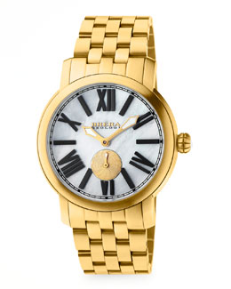 Brera 42mm Valentina II Yellow Golden Watch Head & 22mm Bracelet Strap