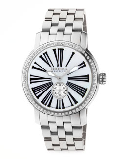 Brera 42mm Valentina II Diamond Stainless Steel Watch Head & 22mm Valentina II Bracelet Strap