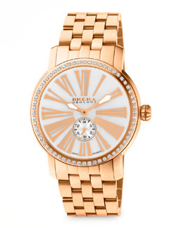 Brera 42mm Valentina III Diamond Rose Golden Watch Head & 22mm Valentina II Bracelet Strap