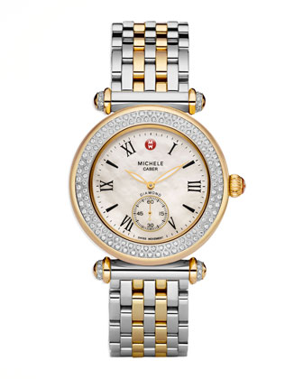 Caber Two-Tone Diamond Watch Head & Bracelet Strap