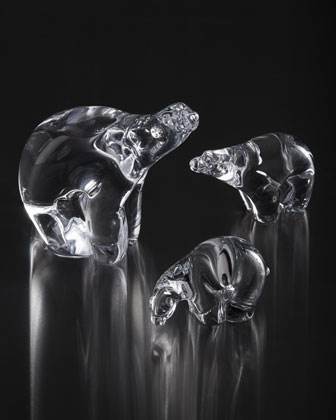 Glass Polar Bears