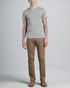 Crewneck Tee & Five-Pocket Twill Pants