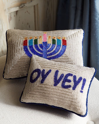 Sudha Pennathur Hanukkah Pillows