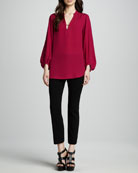 Tanyana Long-Sleeve Blouse & Carissa Cropped Pants