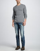 Thermal Crewneck Sweater & Jefferson Selvedge Jeans