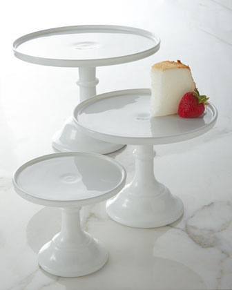 Milk-Glass Pedestal Servers