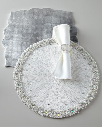 Silvery Placemats & Napkins