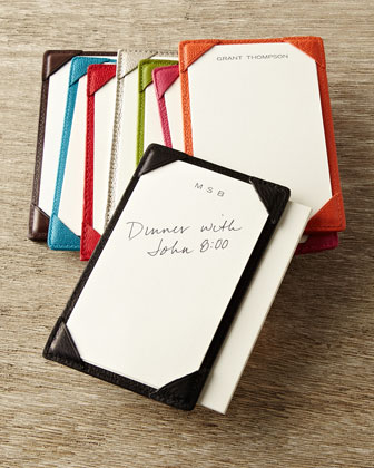 Personalized Leather Jotter & Personalized Jotter Cards