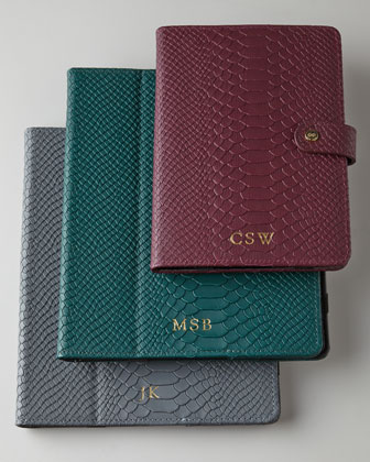 Personalized Python-Embossed iPad Cases