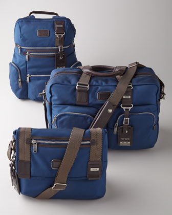 Alpha Bravo Knox Backpack, Everett Tote, & Beale Mini Messenger