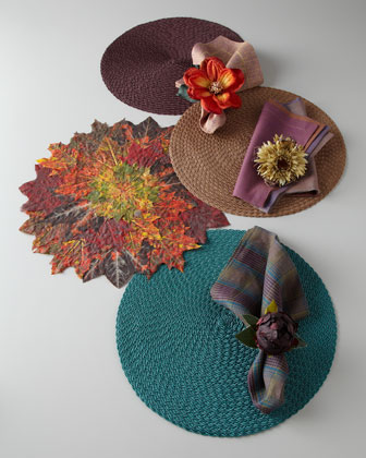 Autumn-Hued Placemats & Napkins