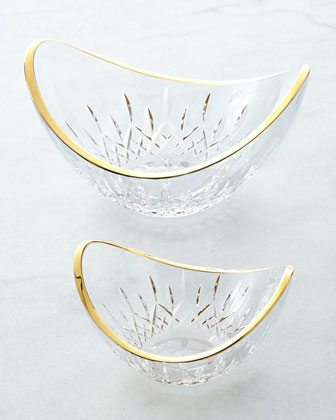 Lismore Essence Golden Ellipse Bowl