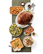Honey-Glazed, Spiral-Cut Ham Meal