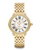 Serein Golden Diamond Watch Head & 16mm Bracelet Strap