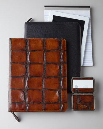 Leather Portfolios & Business Card Holder