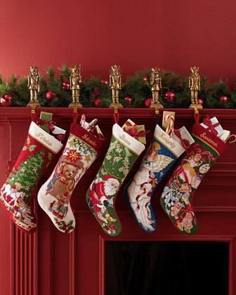Holiday Needlepoint Christmas Stockings