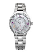 Small Round Diamond Watch Head & Stainless Steel Bracelet