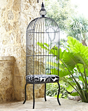 Indoor/Outdoor Birdcage Chair & Cushion