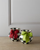 Courtly Check Enamel Vase