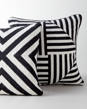 Black-and-White Bargello Pillows
