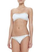Sunglass Underwire Bikini Top with Studded Trim & Eric Swim Bottom