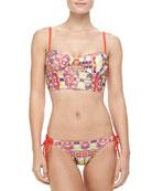 Willemstad Bustier Bikini Top & Tie-Side Bottom