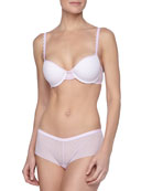 Never Say Never Comfie Tee Bra & Soire Girl Shorts, Frosty Lilac