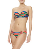 Freemont Striped Underwire Swim Top & Colada Striped Swim Bottom
