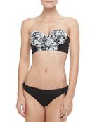 Starboard Floral Bustier Swim Top & Gidget Ruched-Back Swim Bottom