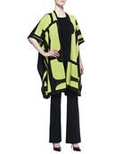 Rosalie 3/4-Sleeve Colorblock Cardigan, Sleeveless Tank & Boot-Cut Knit Pants, Petite
