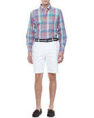 Harwich Port Plaid Sport Shirt & Winston Washed Twill Shorts