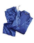 Men's Silk Two-Piece Pajama Sets