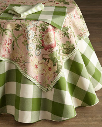 Green & White Table Linens