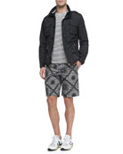 Mate Nylon Field Jacket, Striped Short-Sleeve Tee & Floral-Print Bermuda Shorts