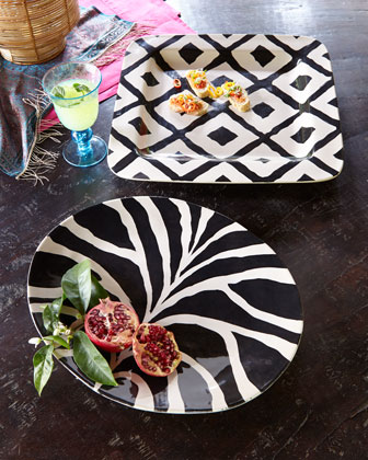 BELLINI SARA SRL Black-and-Tan Platters