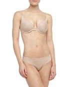 Inspiration Three-Way Convertible Memory Foam Bra & Basic Bikini Briefs, Nude