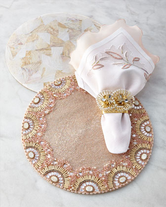 Blush & Natural Table Linens