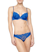 Niloufer Embroidered Push-Up Bra & Briefs