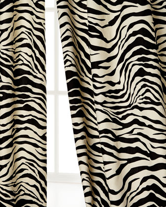 Zebra-Stripe Curtains