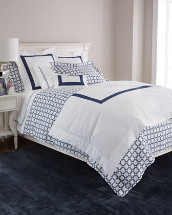 Navy Graphics Bedding